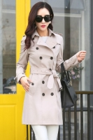 BLAZER WANITA KOREA - Beige Korean Trench Coat