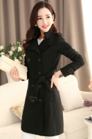 BLAZER WANITA KOREA - Black Korean Trench Coat