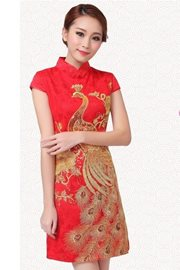 BAJU CHEONGSAM MODERN - Golden Cheongsam Dress