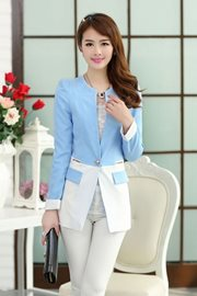 BLAZER WANITA KOREA - blue Office Look Blazer