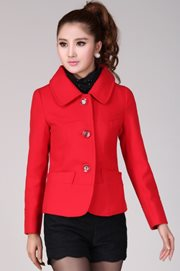 COAT KOREA STYLE - Red ShortCoat