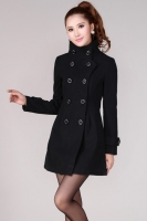 BAJU MUSIM DINGIN - Black Winter Long Coat