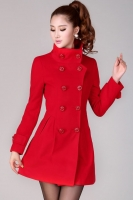 BAJU MUSIM DINGIN - Red Winter Long Coat