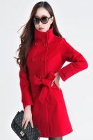 JAKET MUSIM DINGIN - Red Women Big Size Coat