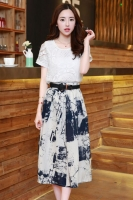 DRESS CANTIK KOREA - 2Pcs Summer Dress