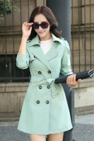 BLAZER WANITA KOREA - Green Korean Trench Coat