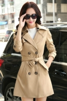 BLAZER WANITA KOREA - Khaki Korean Trench Coat