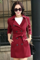 BLAZER WANITA KOREA - Red Korean Trench Coat