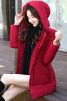 JAKET MUSIM DINGIN KOREA - Red Padded Jacket