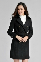 JAKET WANITA KOREA - BLACK KOREAN LONG