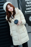 JAKET WANITA KOREA - OffWhite Winter Coat