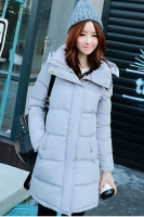 JAKET WANITA KOREA - LightGray Winter Coat