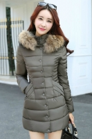 JAKET KOREA BIG SIZE - Khaki Fur Padded Jacket