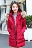 JAKET BULU KOREA BIG SIZE - Red Fur Padded Jacket