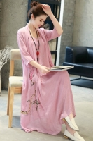 LONG DRESS WANITA KOREA - Rose Summer Korean Maxi Dress