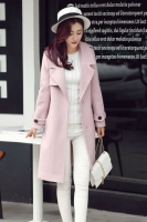 JAKET IMPORT KOREA - SoftPurple KOREAN LONG COAT