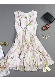 DRESS CANTIK KOREA - Floral Korean Dress