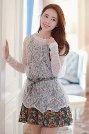 DRESS CANTIK KOREA - Two style lace Dress