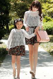 BAJU COUPLE - Mom n Girl Lace Dres