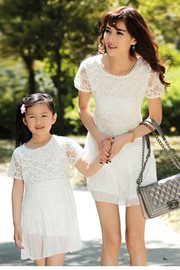 BAJU COUPLE IBU ANAK - White Autumn Dress