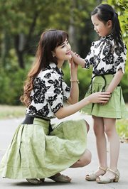 BAJU IBU DAN ANAK - Fresh Green Dress