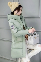 GREEN HOODED DOWNCOAT - JAKET HOODIE KOREA