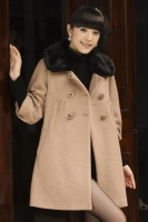 JAKET WANITA - LightTan Maternity Coat
