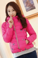 JAKET WANITA KOREA BIG SIZE - Rose Korean Jacket