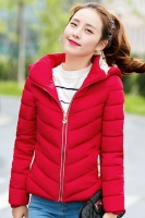 JAKET HOODIE WANITA KOREA - Red Korean Jacket