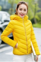 JAKET HOODIE WANITA KOREA - Yellow Korean Jacket