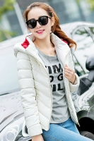 JAKET HOODIE WANITA KOREA - White Korean Jacket