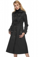 LONG COAT WANITA KOREA - Black Korean Long Coat