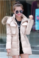 JAKET KOREA BIG SIZE - Beige Down Coat