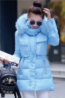 JAKET KOREA BIG SIZE - Blue Down Coat