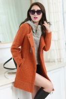 JAKET MUSIM DINGIN BIG SIZE - Orange 2pcs Trendy Coat
