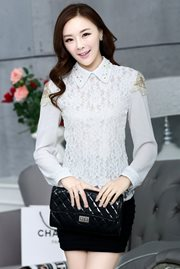 BAJU IMPORT KOREA STYLE - White Charming Blouse