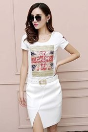 BAJU IMPORT KOREA STYLE - White Cotton Dress