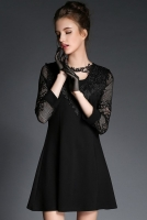 DRESS CANTIK KOREA - Black Charming Dress