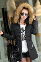 JAKET MUSIM DINGIN KOREA - Black Down Coat