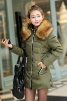 JAKET MUSIM DINGIN KOREA - Green Down Coat