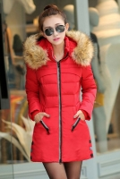 JAKET MUSIM DINGIN KOREA - Red Down Coat