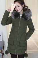 JAKET WINTER BULU HOODIE - DOWN COAT IMPORT KOREA STYLE