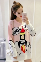 CUTE LADIES SWEATER - Sweater Rajut Pink