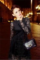 DRESS CANTIK - Lace Little Black Dress