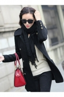 COAT IMPORT KOREA - Black Woolen Premium COAT