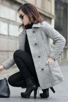 COAT IMPORT KOREA - Gray Woolen Premium COAT
