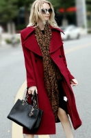 JAKET IMPORT WANITA - Red Winter LONG