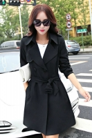 LONG COAT WANITA KOREA - Black Big Size Trench Coat
