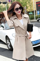 LONG COAT WANITA KOREA - Khaki Big Size Trench Coat
