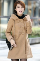 LONG COAT KOREA - Khaki Hoodie Coat